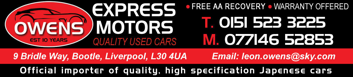 Owens Express Motors - used cars for sale in Liverpool, Merseyside and the Northwest